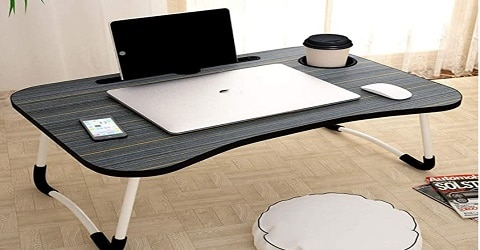 Tesseract Foldable Wooden Laptop Desk for Bed