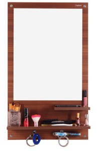 Captiver Cabinet Wall Mounted Dressing Table Classic Walnut with 2 Shelf