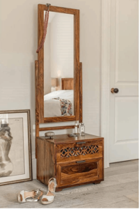 ARTIFACTS'OCEAN Double Drawer Dressing Table with pre-assembled